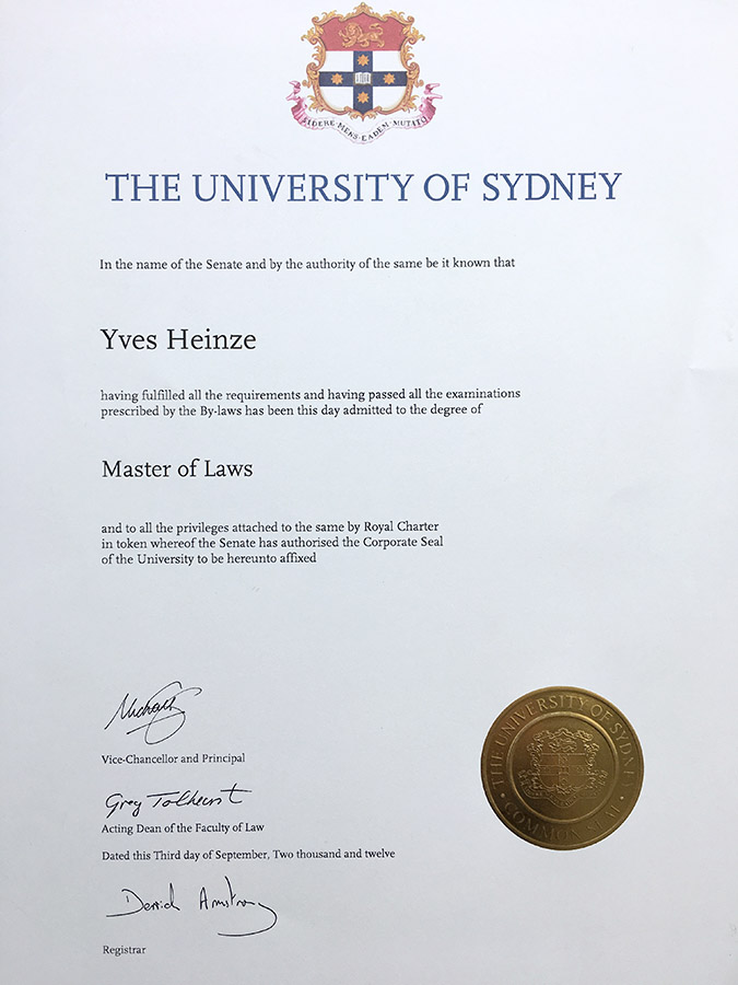 LL.M. Master-of-Laws Yves Heinze